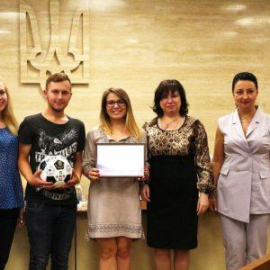 Голова Студентського уряду академії на нагородженні переможців фестивалю