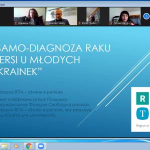 Зустріч координаторів проєкту RITA «Samo-diagnoza raku piersi u młodych Ukrainek»