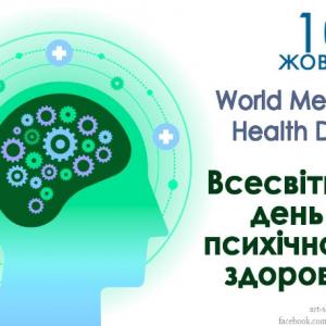 Психологічна служба Хортицької національної академії щиро вітає вас з Всесвітнім днем психічного здоров'я!
